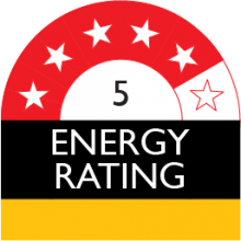 Energy Star Rating - 5 star