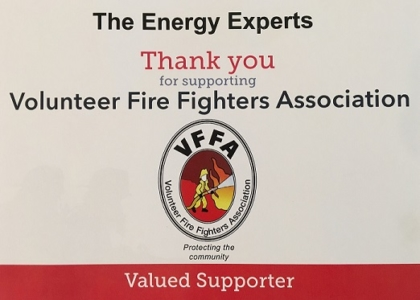 Volunteer Fire Fighters Assoc Valued Supporter