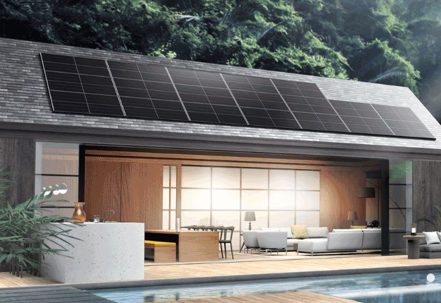 Solar panels installed on a single-storey home