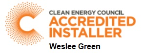 Clean Energy Council Accredited Installer - Weslee Green